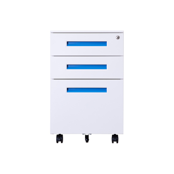 Colorful modern design Office Equipment For A4 File Cabinet Three 3 Mobile pedestal filing drawer storage cabinet