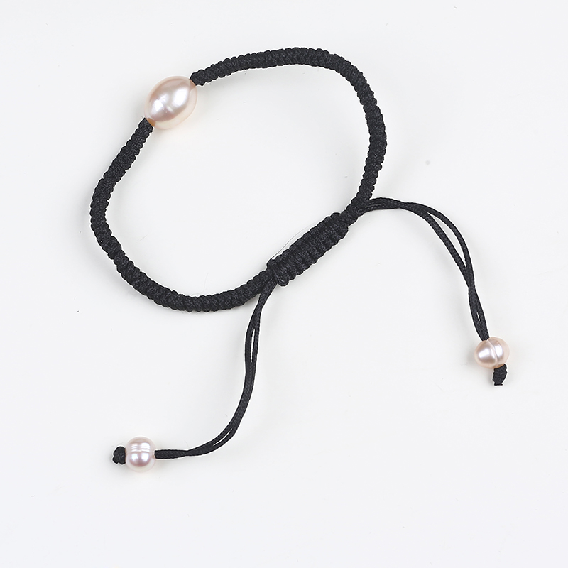 Wholesale cheapest adjustable freshwater pearl rope bracelet for women