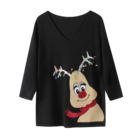 China manufacturer high quality black women oem knitted girls sweater