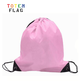 2019 Custom Logo Printed 210D Polyester Drawstring Bag for Promotions