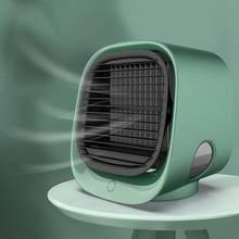 Мини портативный кондиционер Многофункциональный увлажнитель воздуха очиститель USB Настольный воздушный кулер вентилятор с баком для вод...(Китай)