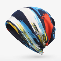 Women India Muslim Stretch Turban Hat Stripe Print Hair Loss Head Scarf Wrap Lady Chemo Cap Ladies Stretch Head Wrap NEW