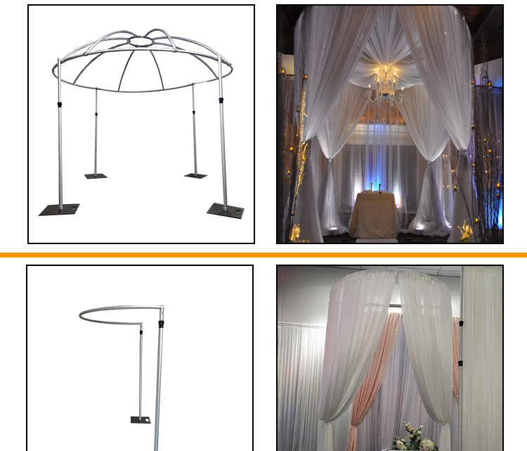 Indian Wedding Backdrops Wintian Pipe and Drape Kits Wedding Stage Pillars For Event Supply