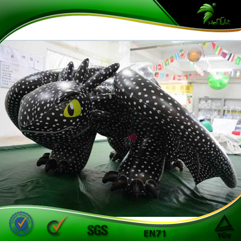 Hongyi Inflatable Toothless Suit Double PVC Layers  Black Dragon Inflatable Sex Animal Costume with SPH
