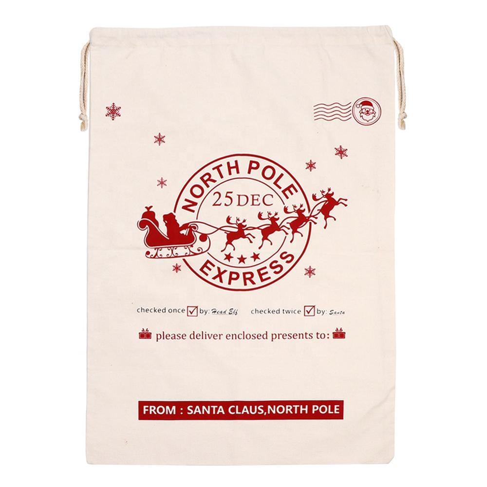 Лидер продаж, новый дизайн, персонализированные рождественские подарки, большая сумка с Санта-Клаусом по конкурентоспособной цене