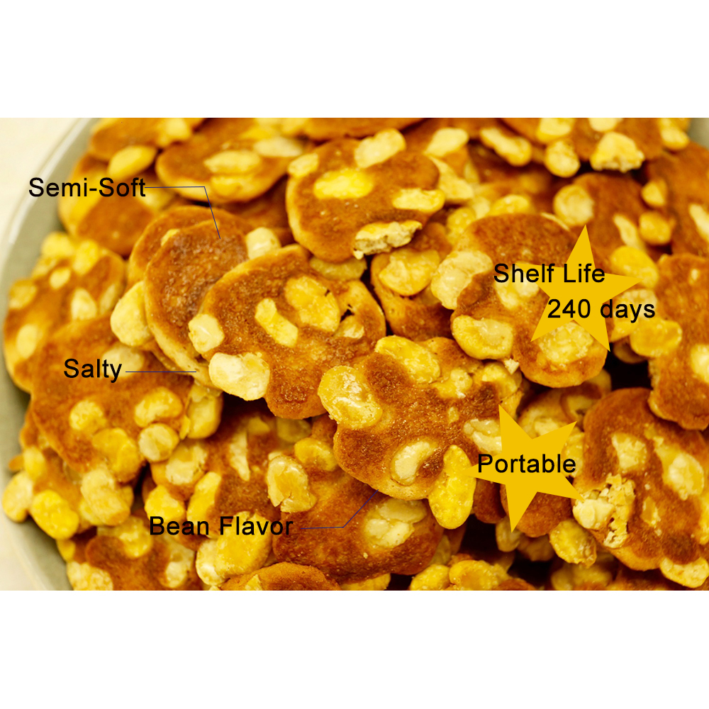 Salty Semi-Soft Bean flavours crackers biscuits paper packaging box