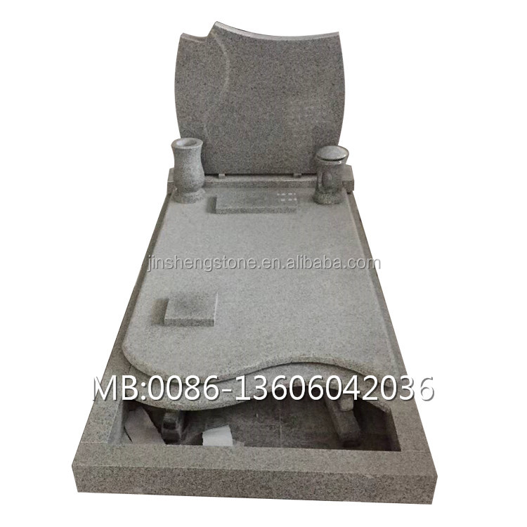 Chinese granite multicolor stone grave tombstone monument