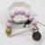 Amanzon Silicone Bead Teether Stainless Steel Baby  Pacifier Clip