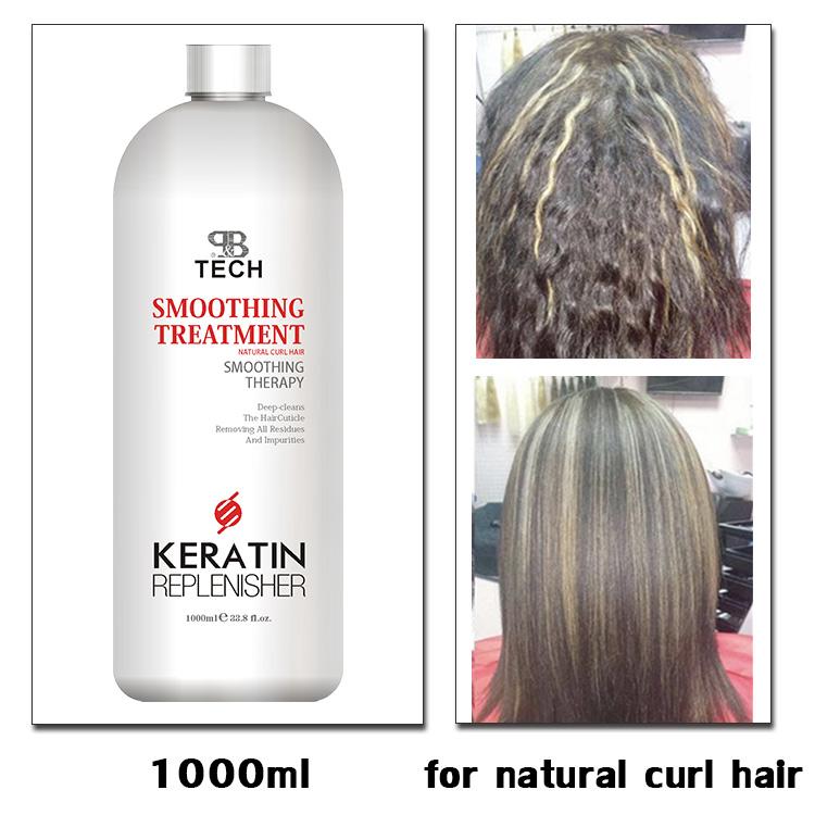Professional Brazilian Natural Straightening Keratin Hair Treatment for natural curl hair