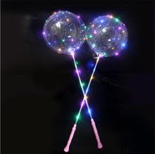 Yangyue Transparant Glow In The Dark Knipperende <span class=keywords><strong>Led</strong></span> Bubble Bobo <span class=keywords><strong>Ballon</strong></span> Ballons Met Party Licht Srtings