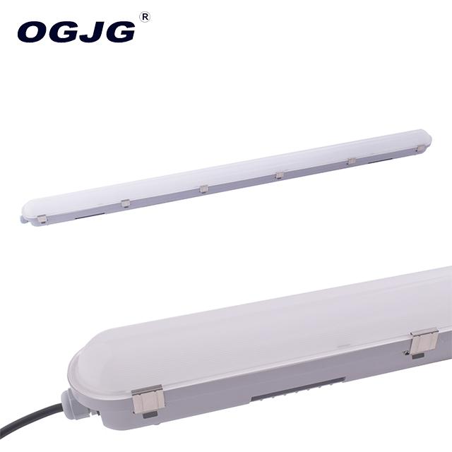 OGJG IP66 40W 4ft Triproof Lampu Perumahan PC Uap Ketat Tahan Air Led Tabung Lampu