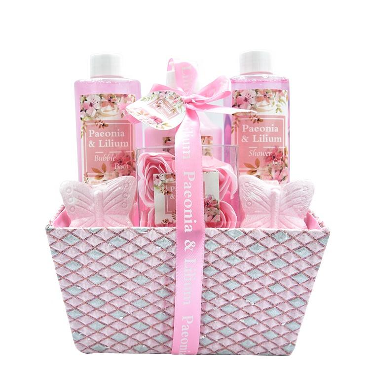 Spa moisturizing shower gel best selling bath gift set with body scrub