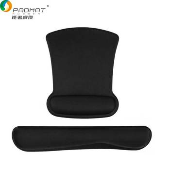 Non-Slip el Keyboard Wrist Rest Pad & Foam Cushion Wrist Rests Mouse Pad Support Set Ergonomic Mousepad for PC Desktop