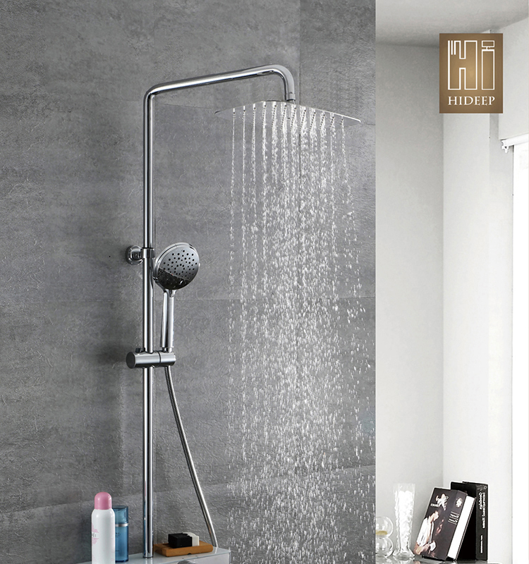 Modern style bathtub shower faucet hot and cold faucet stainless steel shower head