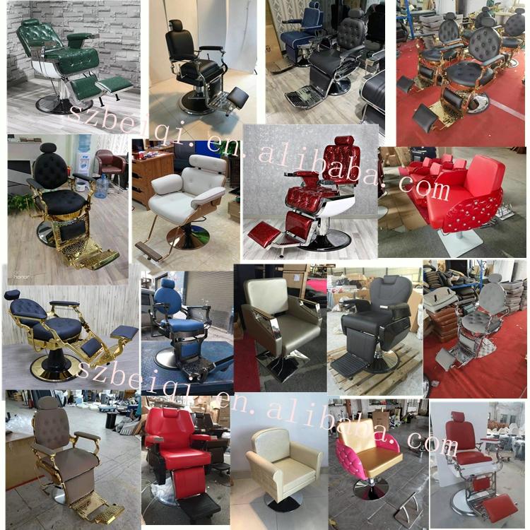 ホット販売アンティークヘビーデューティ油圧理髪店の椅子男ヴィンテージサロンチェアスタイリング美容院のための