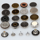 custom fashion zamak vintage metal denim jeans buttons and rivets for jeans