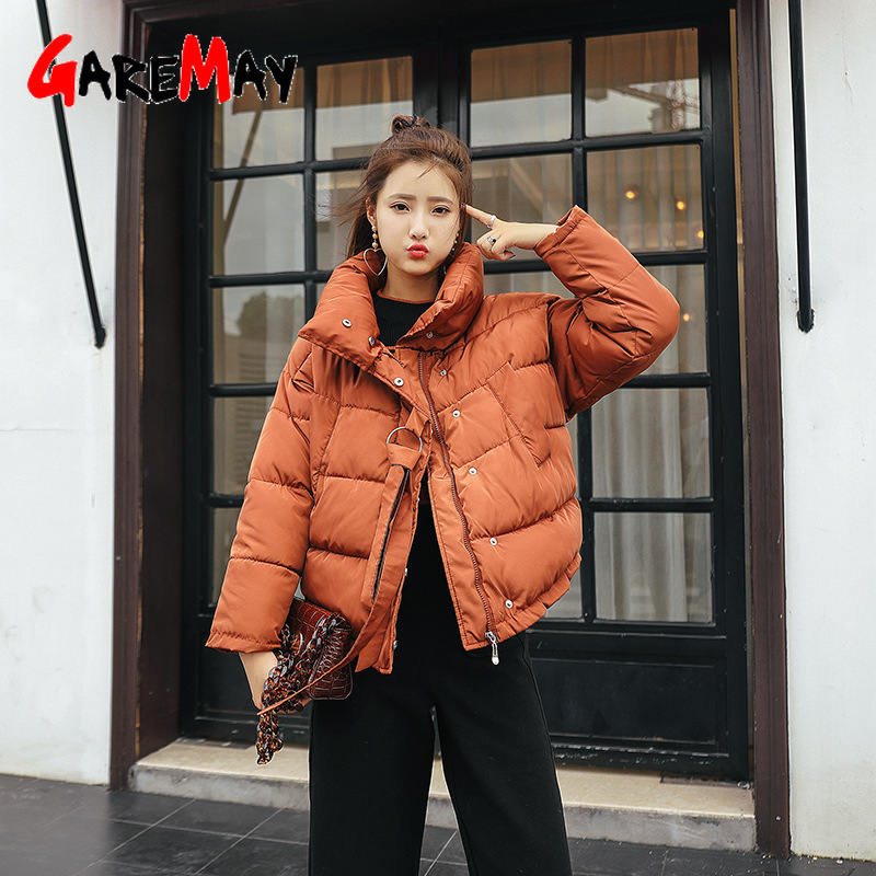เสื้อแจ็คเก็ตสตรีฤดูหนาว 2020 แฟชั่นหลวมเสื้อแจ็คเก็ตคอผู้หญิง Parka WARM Casual Overcoat OVERSIZE Parka
