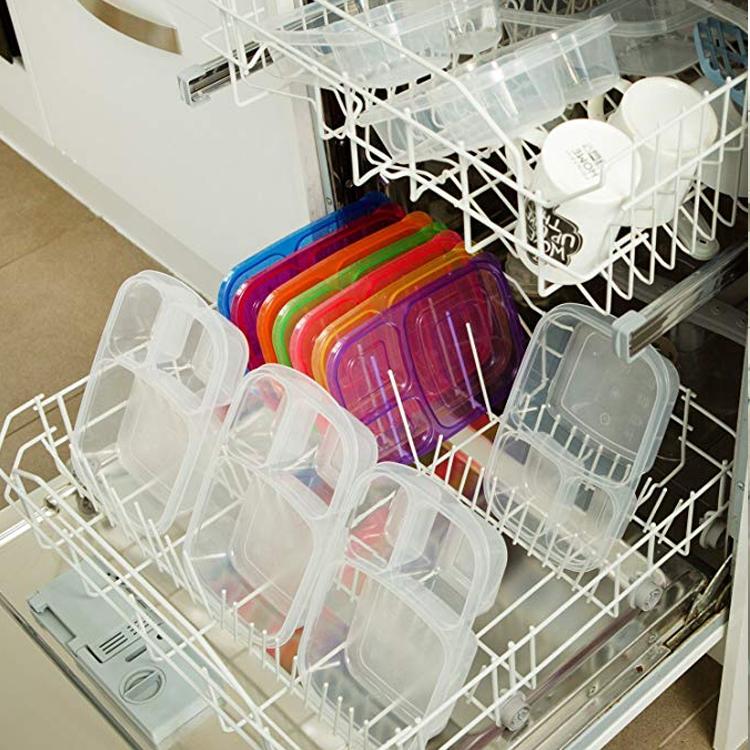 BPA free3 отсек пластиковая еда готовка Ланч-бокс контейнер для бэнто/Тиффин Ланч-бокс