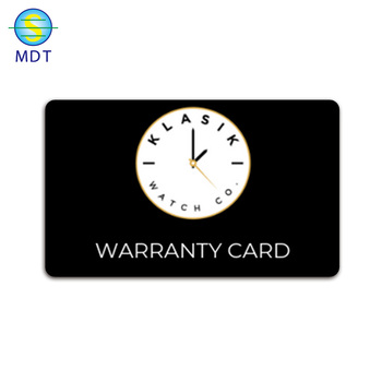 0.3mm thickness matt black warranty metal card