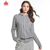 100% Organic Cotton Wool Cashmere Knitted Pullover Mujer Woman Sweater
