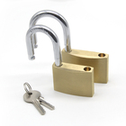Best brand keyed solid shackle brass padlock