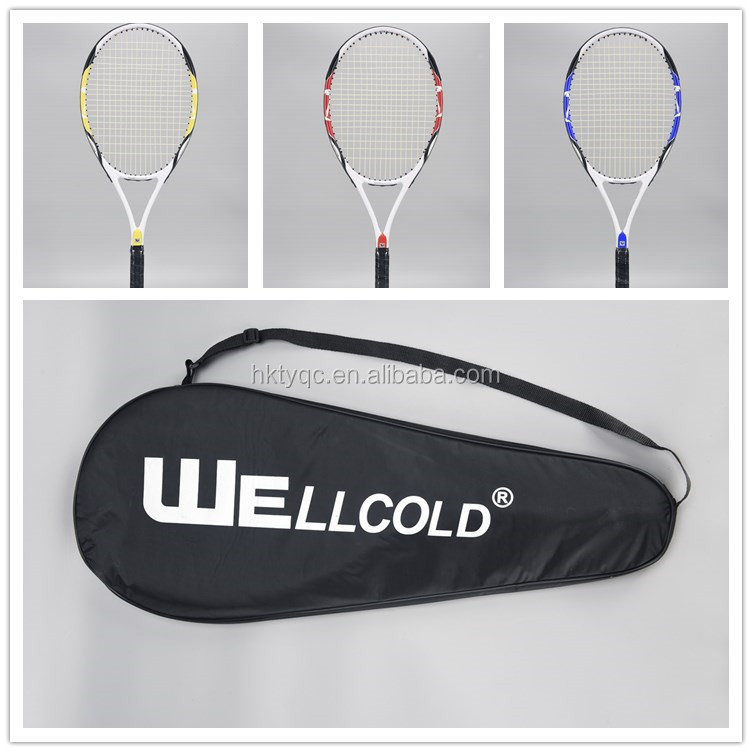 OEM brand low pricealuminium alloy price tennis racket with PVC grip