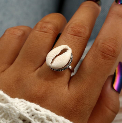 New Arrival Bohemian Seashell Shell Ring Anel Femme Vintage Finger Rings For Women Summer Beach Party Accessories