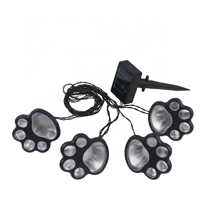 Solar Outdoor Animal Paw Design Decorative Lamp Solar led string Garden Lights Decor for Patio,Yard,Walkway Lighting