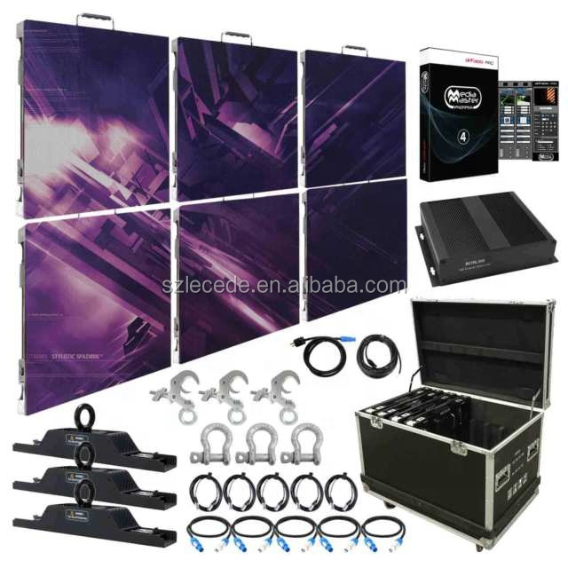 Shenzhen Pitch 4ミリメートル3X2 LED Video Wall System + Storage Case + Software W/ Processor