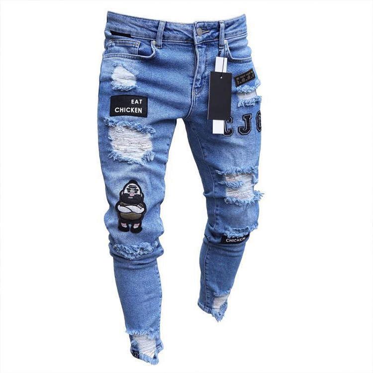 Venta Al Por Mayor Skinny Moda De Hombre Pantalones Vaqueros Negros Buy Vaqueros Negros Vaqueros De