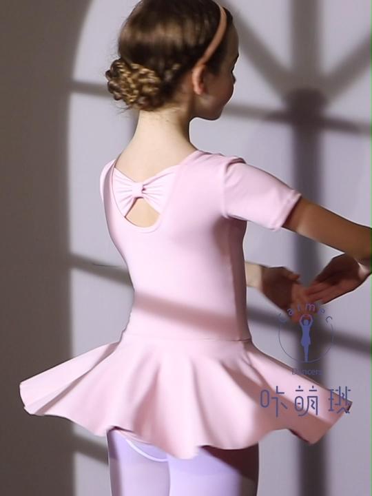 Cute Bow-knot Stage Kids Ballet Skirt Dress Dance Costumes Dress Girls Dancing Mini Skirts
