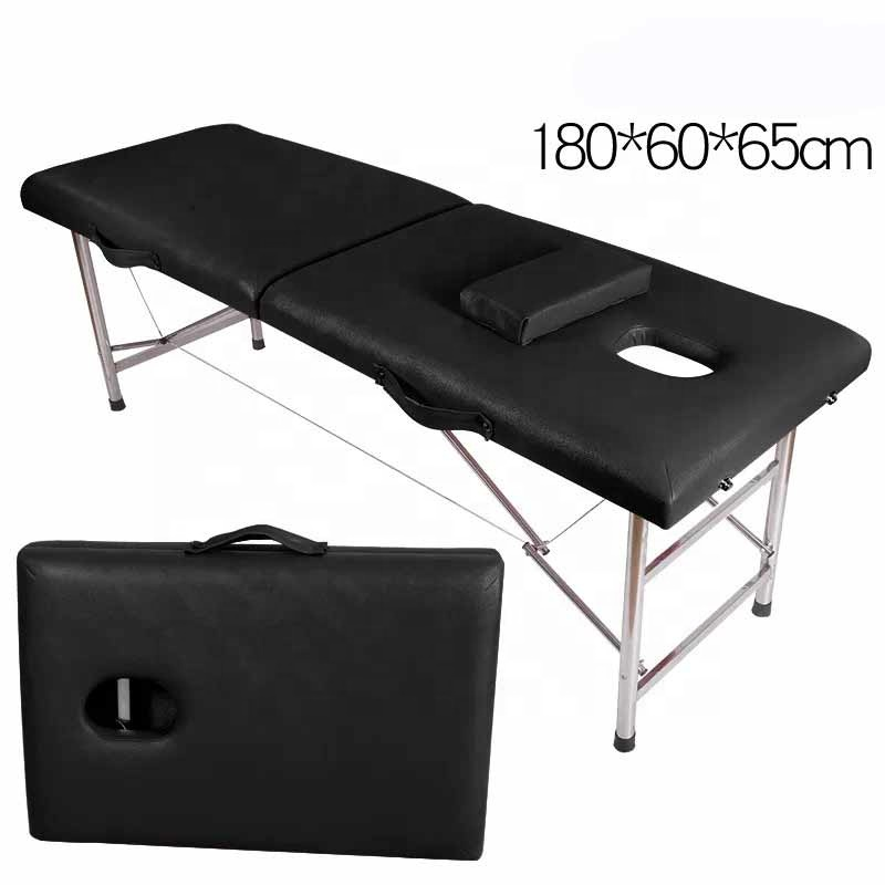 High Quality Portable Cheap 3 Section Foldable Aluminum Massage bed