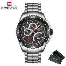 NAVIFORCE повседневные часы для мужчин спортивные мужские часы Лидирующий бренд Роскошные Кварцевые наручные часы армейские мужские часы водо...(Китай)