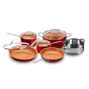 ceramic coated pressed aluminum cookware
