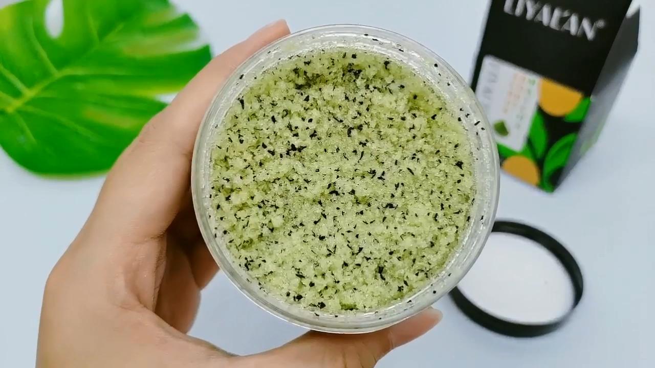 Oem Private Label 100% Natuurlijke Organische Groene Thee Exfoliërende Hydraterende Body Matcha Scrub