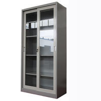 Customized colour steel office cabinet glass door display archives storage filing cabinet