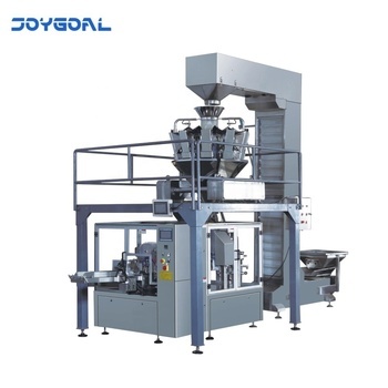 Automatic durable pouch filling packing machine for liquid powder or granule grain flow food snack chips tea sugar salt biscuit