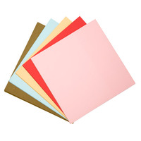 Wood Free 12x12in 180g Color Paper For Student