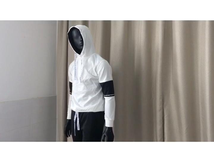 2019 sonbahar erkek takım elbise giyim Hoodies + pantolon takım Hip Hop rahat monte erkek kazak