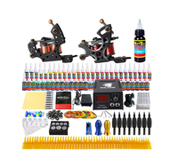 Solong complete tattoo kit 2 machines 54 inks power supply grips tips needles cheap tatoo kits