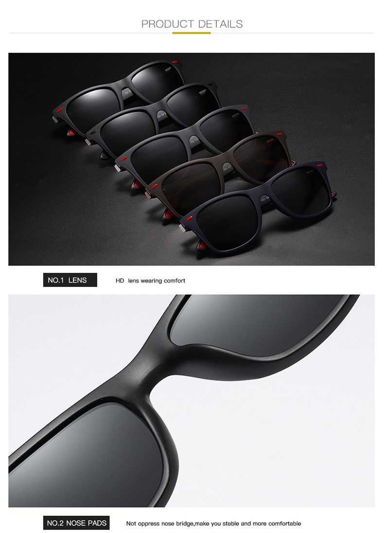 Fuqian custom square aviator sunglasses mens factory for running-9
