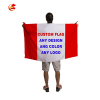 Outdoor polyester digital printed 3x5 promotional flag custom rectangle Polyester National Country Flag