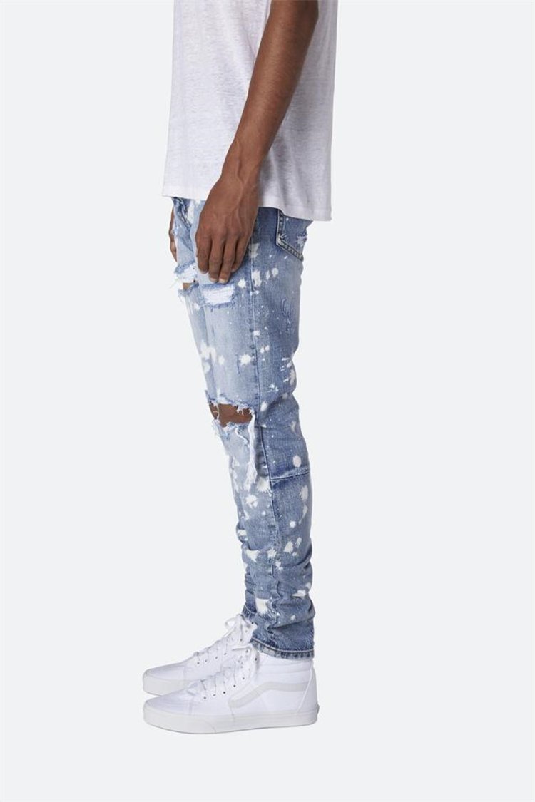Baru Fashion Mens Jeans Stretch Skinny Denim Jean Ripped Slim Fit Jeans Celana Pensil Celana