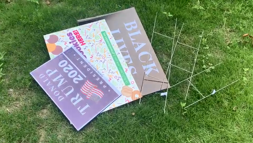 Outdoor blank lawn coroplast boy happy birthday custom letter yard signs corrugated plastic with h stakes