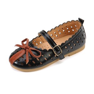 Girls Summer Hollow out Toddler Children Sandals Flat GladiatorPrincess Cut-Outs Kids sweet Mary Janes Leather Shoes with holes