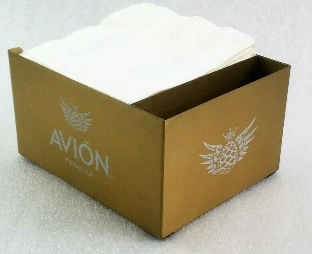Avion Tequila servilleta titular de la paja Bar Caddy de oro Metal