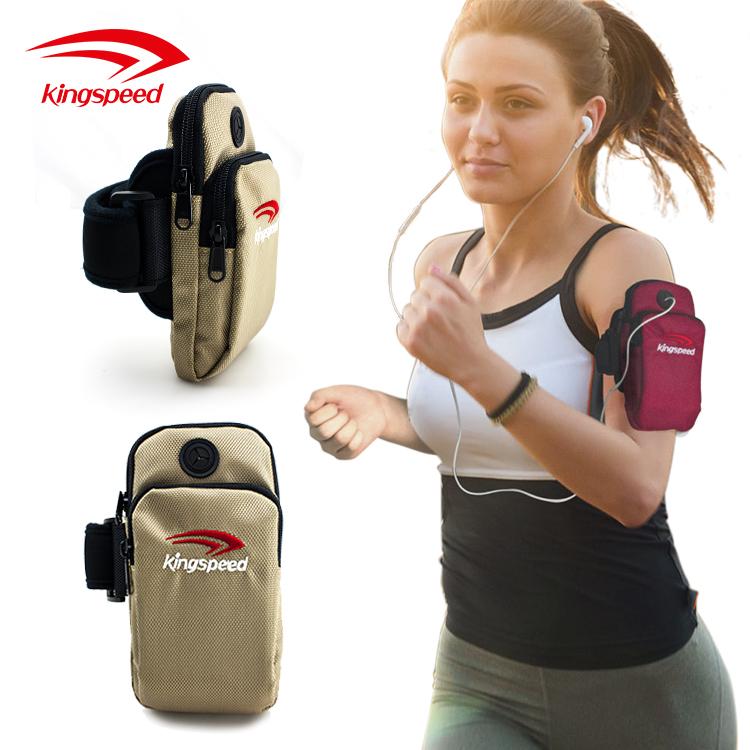 Outdoor Sports Bike Running Polyester Arm Phone Bag/sports running mobile phone arm bag accessories manufacturer