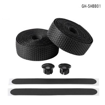 ROCKBROS Bike Cycling Equipment Road Non-slip Strap Wear Resistant Tape + 2 Bar Plug Shockproof Belt Bicycle Handlebar Tape