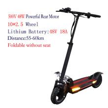 Новый 100 км электрический скутер с 48V500W мощный задний мотор складной скейтборд литиевая батарея patinete eletrico adulto(Китай)