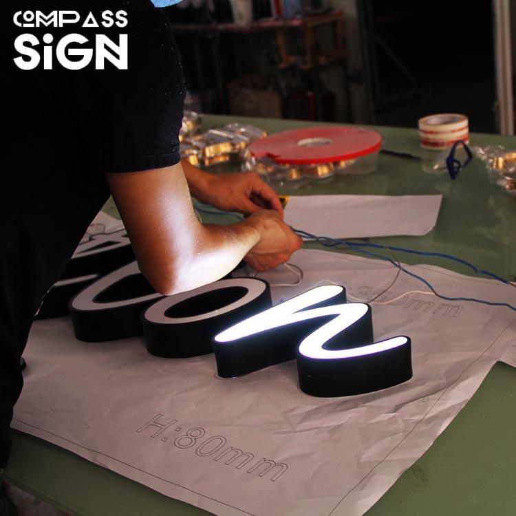 Weather resistance outdoor custom led sign lighting